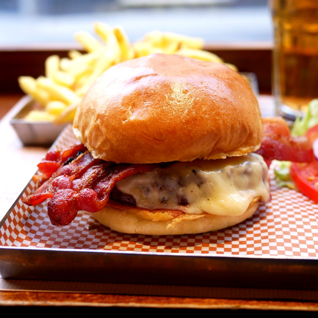 Photo of Cheese & Bacon Blade Burger (Beef Burger) at BRGR.CO
