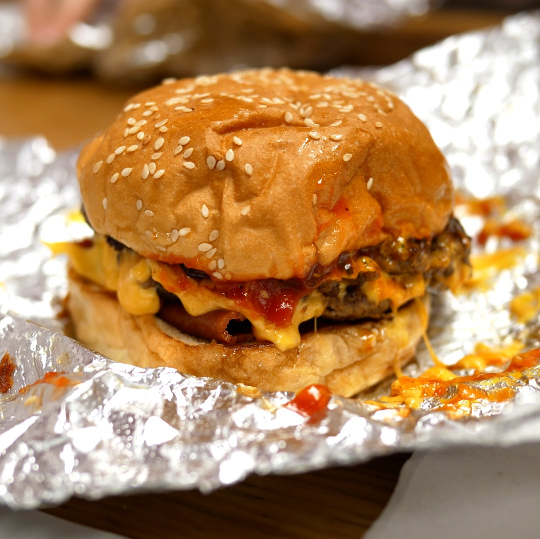 Photo of Bacon Cheese Burger (Beef Burger) at Five Guys