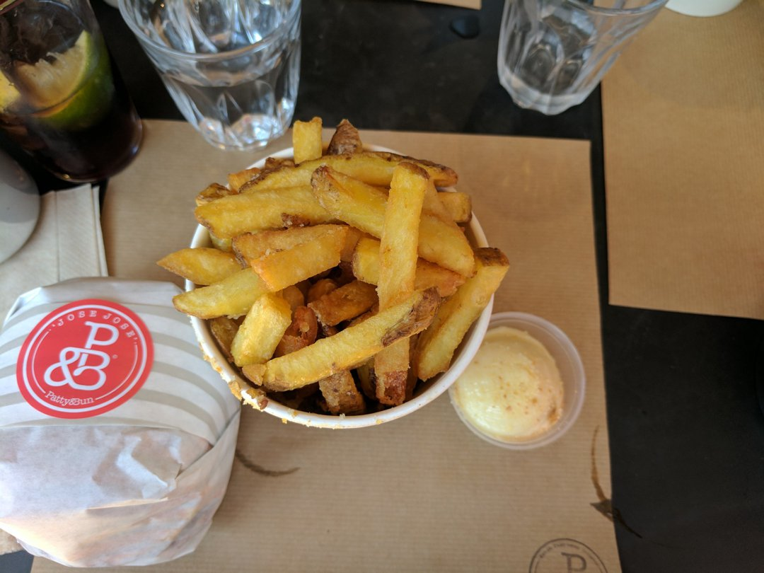 Photo of Chips With Chicken Skin Salt And Roast Chicken Mayo (Chips/Fries) at Patty & Bun